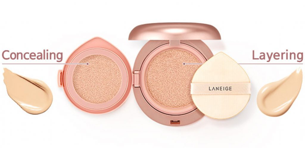cushion loại tốt Laneige Layering Cover Cushion Concealing Base