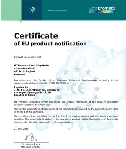 Bộ KIT xét nghiệm nhanh COVID-19 BIOCREDIT tiêu chuẩn châu Âu